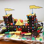 gâteau d'anniversaire en relief