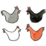 Comptines avec des poules